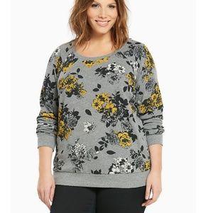 Torrid Floral Print Sweater